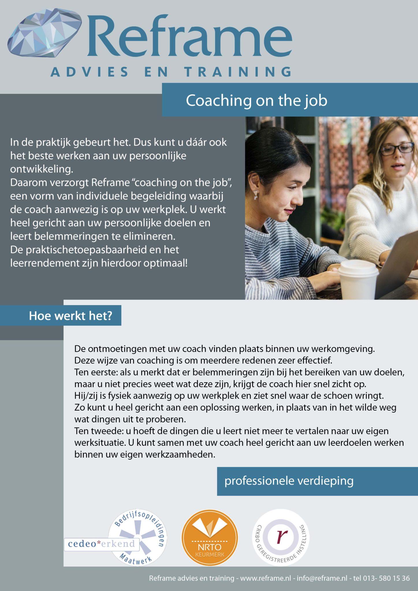 Coaching on the job klein