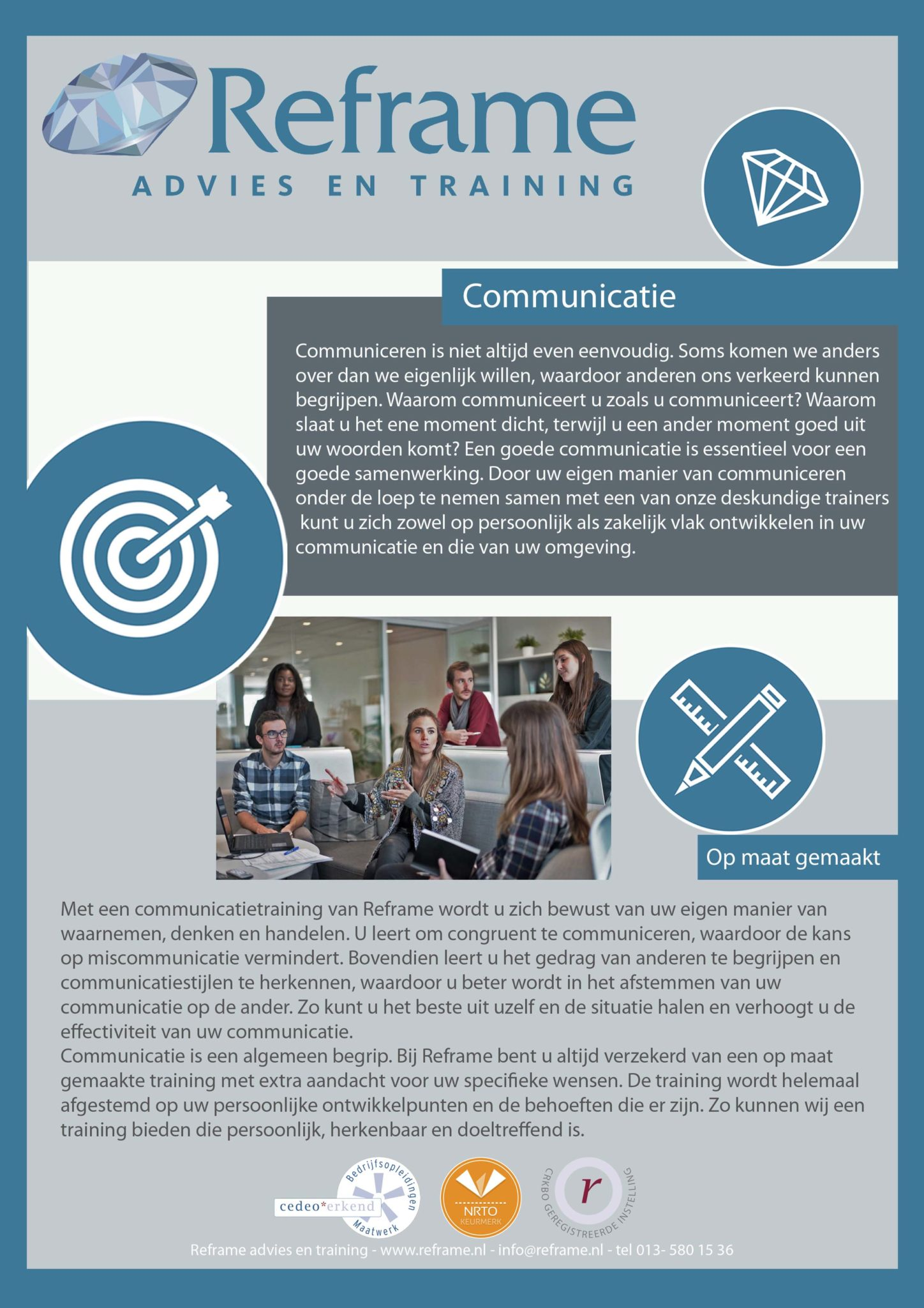 communicatie klein website